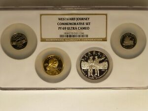 2004 NGC Westward Journey set (of 4) Proof 69 ultra cameo two nickels & 2 dollar