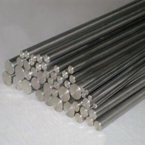 Gr2 Pure Titanium Ti Bar Round Rod Metal Shaft 100/200/300/500mm 3 4 5 6mm-14mm