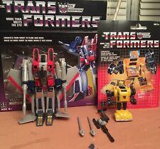 Transformers G1 Walmart Reissue Starscream and Bumblebee LOT OPENED