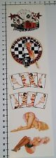 Pin Up Girls 6 unidades Pegatina Sticker poker tatuaje tuning Speedshop Race se008