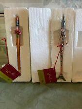 Department 56 Pencil and Fountain Pen Ornaments, New In Box! RARE