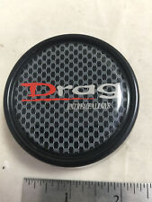 DRAG Extreme Alloys Carbon Fiber Black Wheel Rim Hub Cover Center Cap 2055K66
