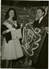 Orig. Photo, Jean-Louis Vigier & Königin von Paris 1959