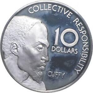 SILVER - WORLD Coin - 1976 Guyana 10 Dollars - World Silver Coin *347