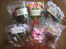 NEW Longaberger 6 Floral Inserts - Geranium,Lilac,Peony,Petunia,Sweet Pea &Tulip
