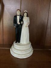 Vintage Coast Novelty Bride & Groom Wedding Cake Topper 1947