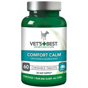Vet's Best 30 Day Supply Of Comfort Calm Chewable Tablets For Dogs (60 Tablets)