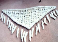 Ermine WHITE MINK lattice,stole,collar,shawl,MINK tails,Bride,WEDDING,Valentine