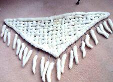 Ermine Bianco Mink lattice, stola, collo, scialle, code di visone, Sposa, Matrimonio, Valentine