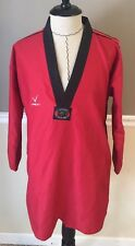 TAE KWON DO UNIFORM RED TOP SHIRT ONLY BY REDOX SIZE 5/190 DEMO TEAM