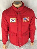 Vtg The Last Great Act Of Defiance Jacket Coat Small USA Korea Flags Korean War