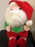 Dakin Here Comes Santa Claus Plush Stuffed Windup Musical Vintage 1988 Korea