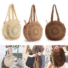Summer Women Round Beach Vacation Straw Shoulder Bag Handbag Tote Crochet Bag