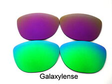 Galaxy Replacement Lenses For Oakley Frogskins Green&Purple Polarized 2 PAIRS