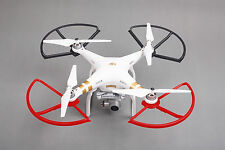 RED/BLACK 4X SNAP ON/OFF PROP GUARDS QUICK RELEASE DJI PHANTOM 1 2 3 PRO VISION+