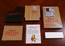 The Legend of Zelda NES Nintendo 1987 SILVER SEAL COMPLETE CIB MAP SHINY!! MINT!