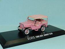 Greenlight 1/43 Elvis Presley 1960 Jeep Surrey CJ3B  Pink MiB