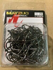 100 Matzuo 513014 Black Barbless Octopus Salmon Steelhead Fish Hooks size 3/0