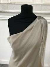 BNWT Jim Hjelm Bridesmaid / cocktail dress size 10 style 5203 in stone  chiffon