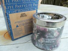 Partylite 3 Wick Scented Candle - Midnight Orchid  - New - Boxed