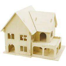 3D Puzzle Home Model House Puzzle Kids Adults Craft Paint Crafts