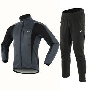 Winter Men's Suit Warm Fleece Windproof Waterproof Running Exercise