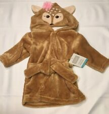 Hudson Baby Fawn Hooded Bathrobe Size 0-9 Months New