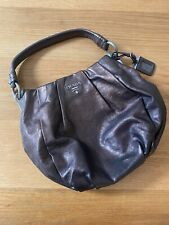 Prada bronze leather shoulder bag