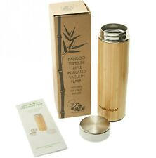 Bamboo Thermos Tumbler 530 ml /18 fl oz Vacuum Flask Tea Infuser With Strainer