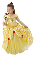 Disney Premium Belle Costume Children Outfit Girls Party Fancy Dress Large Age 7-8 Years