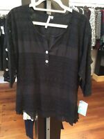 XL Lulu B Black Lace Top Retail $49