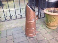 Vintage Solid Copper  Fireside Coal Scuttle Bucket