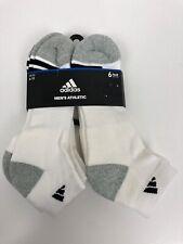 Adidas Men's Athletic Socks 6 Pairs Size 6-12 White