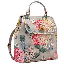 NWT Cath Kidston Matt Oilcloth Turnlock Backpack Rucksack Hydrangea, Color Oat
