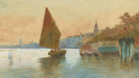 J. Quarmby - Signed 20th Century Watercolour, Sailboats at Dusk