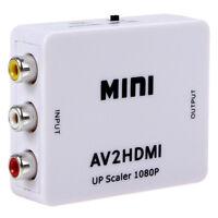 Mini Composite 1080P HDMI RCA Audio Video AV CVBS Converter Adapter For HDTV BE