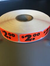 $2.00 Price Labels 1000 Per Roll Great Stickers