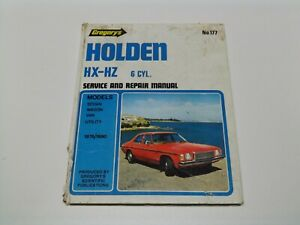 Gregory's No 177 Holden HX-HZ 6 Cyl Service and Repair Manual 1976/1980