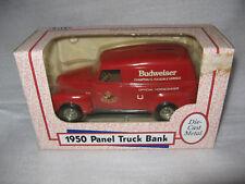 Ertl 1:25 Anheuser-Busch Budweiser 1950 Panel Truck Die Cast Metal Coin Bank
