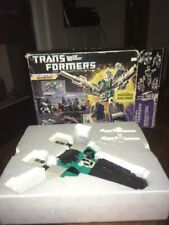 Vintage 1986 Transformers Decepticon Sixshot W/ Box COMPLETE GEN 1 G1