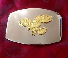 Men's Metal Belt Buckle with Gold Eagle - NEW