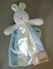 Bunnies By The Bay Blue Plush BUNNY Baby SeCuRiTy BLaNKeT LoViE Wrist Loop *NeW