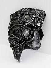 steampunk and cyberpunk cosplay phantom mask with eye lens