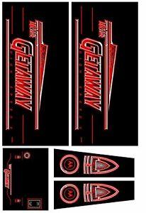 Getaway Pinball Machine CABINET Decal Set