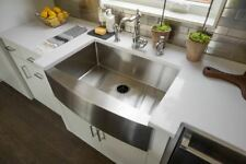 "33"" Hand Made Apron Front Stainless Steel Single Bowl Farmhouse Kitchen Sink 16G"