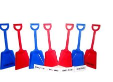 12 Mix Red Blue Small Toy Shovels & I Dig You Stickers Mfg USA Lead Free*
