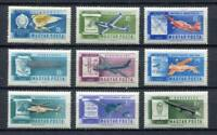 32360) Hongrie 1962 MNH Avions Develop. 9v