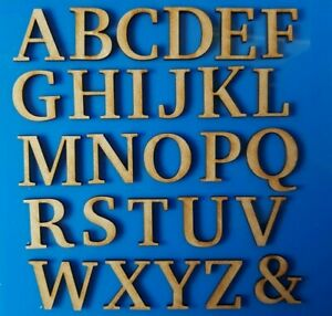 Wooden Letters Numbers Sizes 3cm - 10cm  Small MDF Mini Laser Cut Alphabet