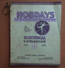 Hobdays Electrical Catalogue 1937/1938 Hobday Bros Limited Very Rare No: 137