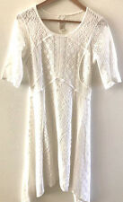 SUNDANCE CATALOG ALOUETTE White Lace Dress Size 12 Orig $158 NWT